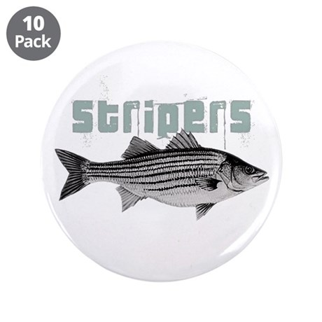 "Stripers 3.5"" Button (10 pack)"