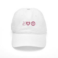 Peace Love Heart Princess Crown Baseball Cap