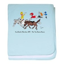 Cute Race horse baby blanket