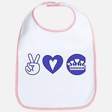 Peace Love Heart Princess Crown Bib