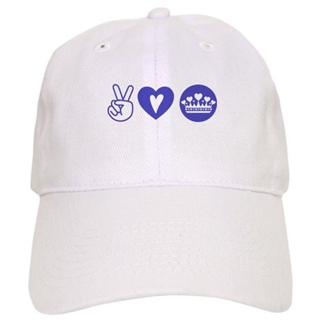 Peace Love Heart Princess Crown Cap