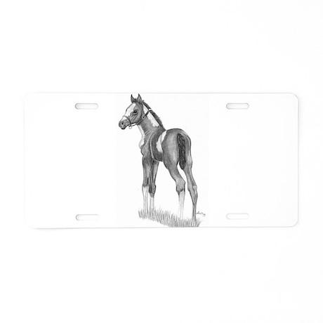 Paint Foal Aluminum License Plate