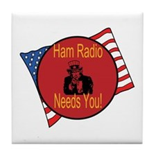 Ham Radio Needs You! Tile Coaster