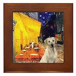 Cafe-Yellow Lab 7 Framed Tile