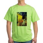 Cafe-Yellow Lab 7 Green T-Shirt