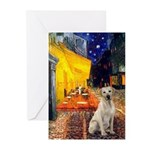 Cafe-Yellow Lab 7 Greeting Cards (Pk of 20)
