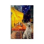 Cafe-Yellow Lab 7 Rectangle Magnet (100 pack)