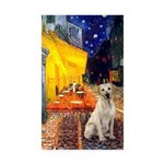 Cafe-Yellow Lab 7 Sticker (Rectangle 50 pk)