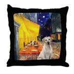 Cafe-Yellow Lab 7 Throw Pillow