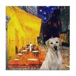 Cafe-Yellow Lab 7 Tile Coaster