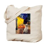 Cafe-Yellow Lab 7 Tote Bag