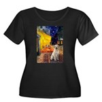Cafe-Yellow Lab 7 Women's Plus Size Scoop Neck Dar