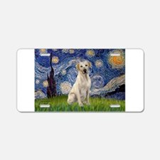Starry - Yellow Lab 7 Aluminum License Plate