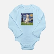 Starry - Yellow Lab 7 Long Sleeve Infant Bodysuit