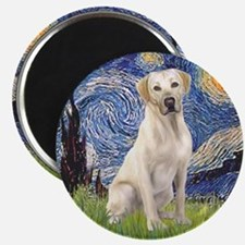 Starry - Yellow Lab 7 Magnet