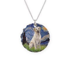 Starry - Yellow Lab 7 Necklace Circle Charm