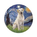 Starry - Yellow Lab 7 Ornament (Round)