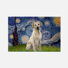 Starry - Yellow Lab 7 Rectangle Magnet