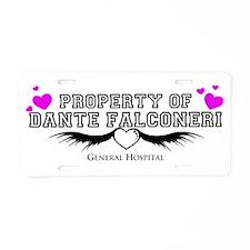 Property of DANTE Aluminum License Plate