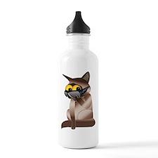 Goofy Cat Water Bottle
