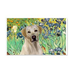 Irises - Yellow Labrador Wall Decal