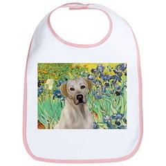 Irises - Yellow Labrador Bib