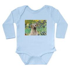 Irises - Yellow Labrador Long Sleeve Infant Bodysu