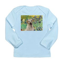 Irises - Yellow Labrador Long Sleeve Infant T-Shir