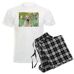 Irises - Yellow Labrador Pajamas
