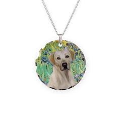 Irises - Yellow Labrador Necklace