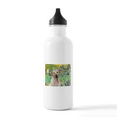 Irises - Yellow Labrador Water Bottle