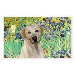 Irises - Yellow Labrador Decal
