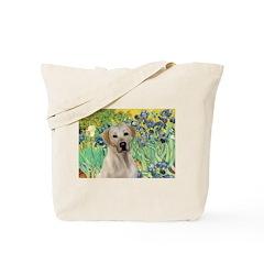 Irises - Yellow Labrador Tote Bag