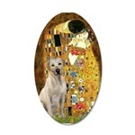 The Kiss-Yellow Lab 35x21 Oval Wall Decal