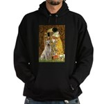 The Kiss-Yellow Lab Hoodie (dark)