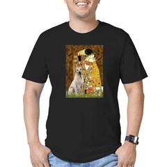 The Kiss-Yellow Lab Men's Fitted T-Shirt (dark)
