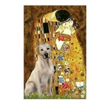 The Kiss-Yellow Lab Postcards (Package of 8)