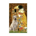 The Kiss-Yellow Lab Sticker (Rectangle 10 pk)