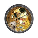 The Kiss-Yellow Lab Wall Clock