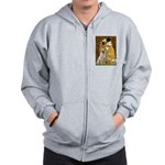 The Kiss-Yellow Lab Zip Hoodie