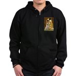 The Kiss-Yellow Lab Zip Hoodie (dark)