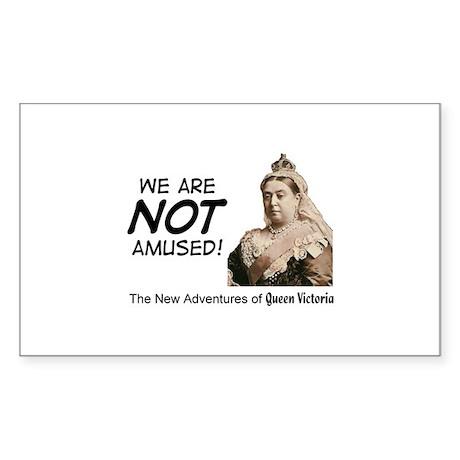Queen Victoria Rectangle Sticker