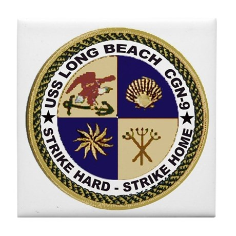 USS Long Beach CGN 9 Tile Coaster