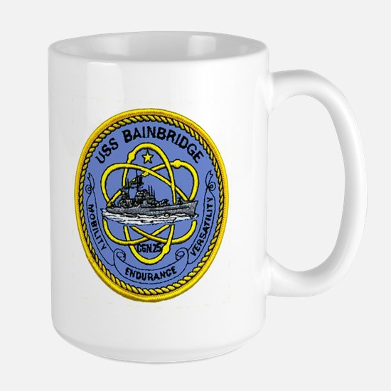 USS Bainbridge CGN 25 Large Mug