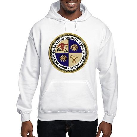 USS Long Beach CGN 9 Hooded Sweatshirt