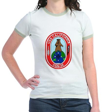 USS California CGN 36 Jr. Ringer T-Shirt