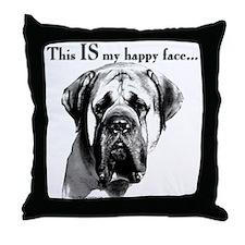 Mastiff 137 Throw Pillow
