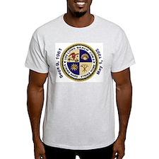 USS Long Beach Decommissioning Ash Grey T-Shirt