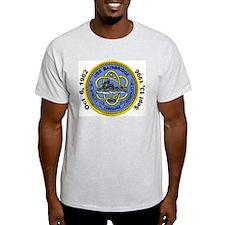 USS Bainbridge Decomm Ash Grey T-Shirt