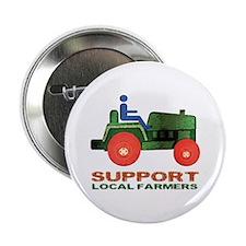 """Farm Tractor 2.25"""" Button"""